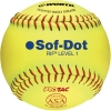 "Worth Sof-Dot RIF Level 1 Fastpitch Softball 10"" (1 Dozen) SR10RYSA"