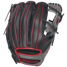 "CLOSEOUT Wilson 6-4-3 1786 Red Infield Baseball Glove 11.5"" WTA12RB161786RD"