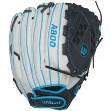 "CLOSEOUT Wilson Aura A800 Fastpitch Softball Glove 12.5"" WTA08RF16125"