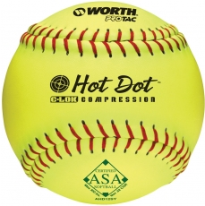 Worth ASA Hot Dot Slowpitch Softball (1 Dozen) AHD12SY