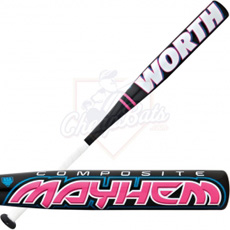 Worth Mayhem Composite Youth Girl Softball Bat -11oz FPM11