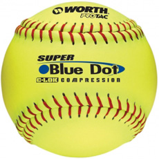 "Worth Super Blue Dot Slowpitch Softball 12"" 1 Dozen YS2RS"