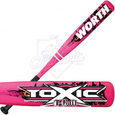 Worth Toxic T-Ball Baseball Bat Girls -11oz TBGTOX